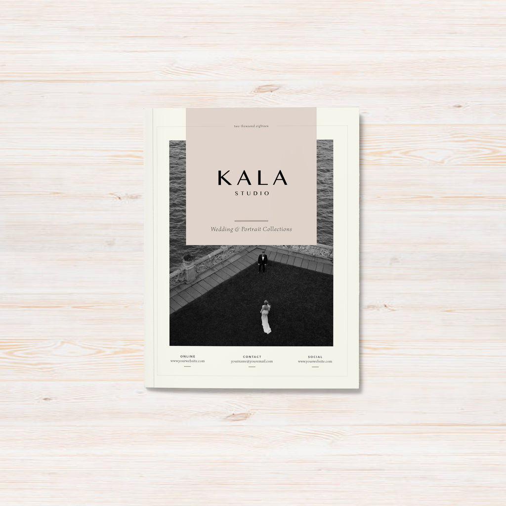 editorial pricing guide template emphasizes elegance and charm. kala pricing guide template