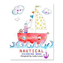 Load image into Gallery viewer, *Printable* Nautical Coloring Book