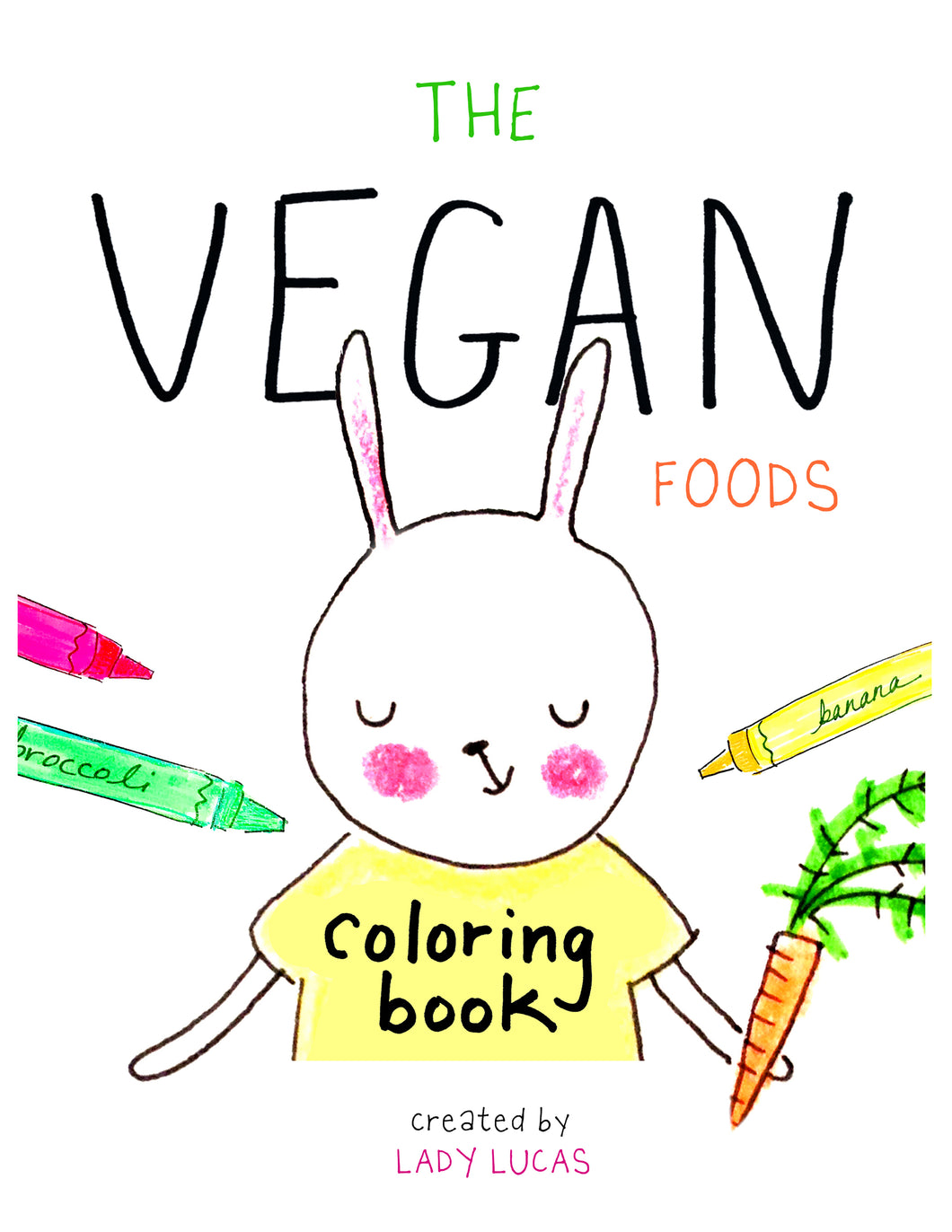 Vegan Foods Printable Coloring Book
