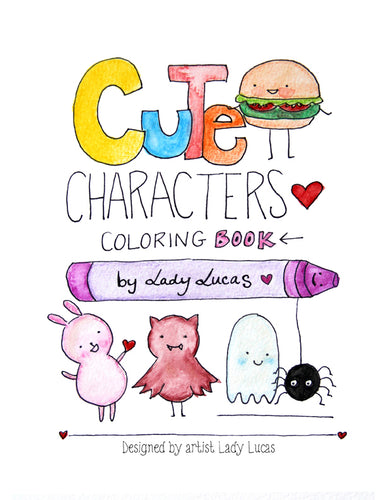 *Printable* Cute Characters Coloring Book