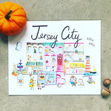 "Load image into Gallery viewer, Jersey City Halloween Edition 8"" x 10"" Art Print"