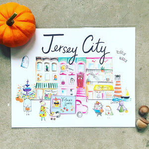 "Jersey City Halloween Edition 8"" x 10"" Art Print"