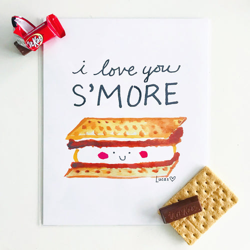 I Love You S'More Wall Art Print
