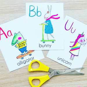 Printable Animal Alphabet Flashcard Deck