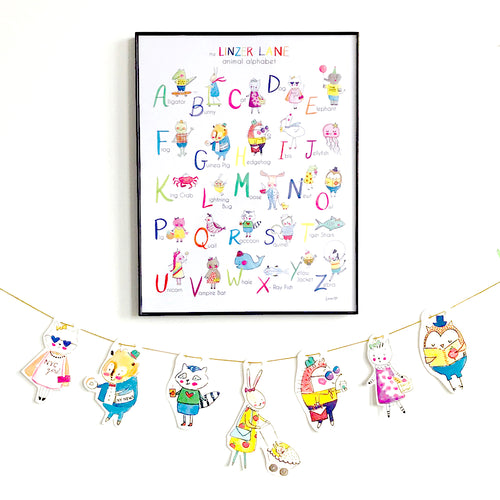 Animal ABC Art Print by Linzer Lane