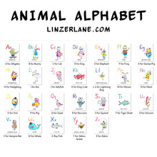 Load image into Gallery viewer, Printable Animal Alphabet Flashcard Deck