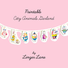 Load image into Gallery viewer, *Printable* City Animals DIY Wall Garland