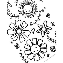Load image into Gallery viewer, *Printable* Zinnie's Garden Coloring Book