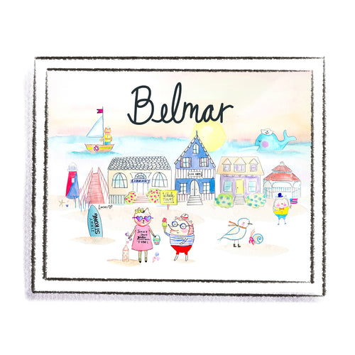 Belmar New Jersey Art Print by Linzer Lane