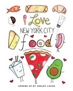 I Love New York City Food Coloring Book