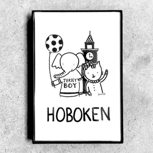 Hoboken Friends Monochrome Art Print