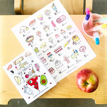 Load image into Gallery viewer, Sweets Alphabet Wall Art Print