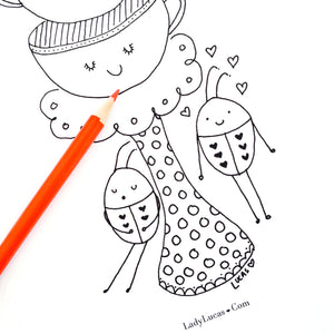 *Printable* Coloring Book Library
