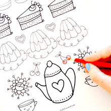 Load image into Gallery viewer, Printable Tea Time Coloring Book