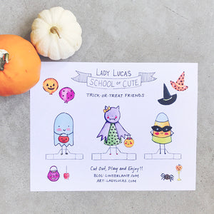 Trick or Treat Paper Dolls DIY by Baby Lucas