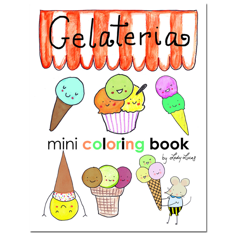 Gelateria Printable Coloring Book by Linzer Lane