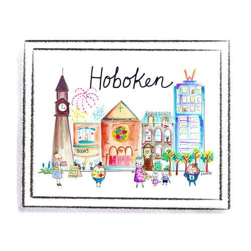 Hoboken Art Print by Linzer Lane