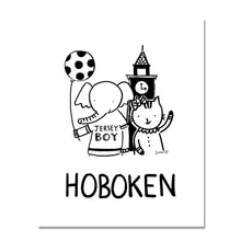 Load image into Gallery viewer, Hoboken Friends Monochrome Art Print