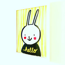 Load image into Gallery viewer, Hello Bunny Art Print by Baby Lucas