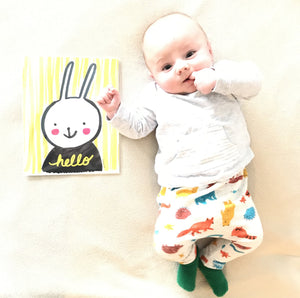 Hello Bunny Art Print by Baby Lucas