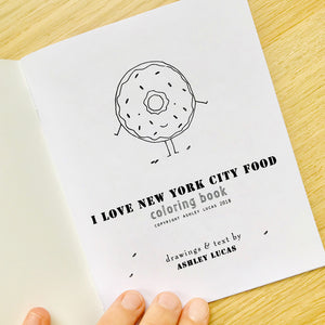 I Love New York City Foods Coloring Book