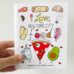 I Love New York City Foods Coloring Book by Baby Lucas