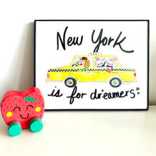 Load image into Gallery viewer, New York is for Dreamers Art Print by Baby Lucas Store