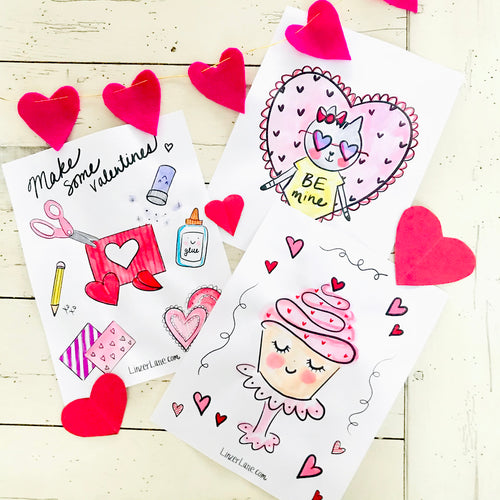Valentine Coloring Book by Linzer Lane