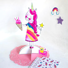 Load image into Gallery viewer, *Printable* Fairy Ann the Unicorn Paper Doll