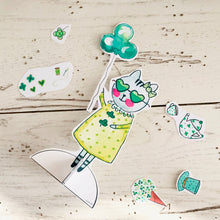 Load image into Gallery viewer, *Printable* Zoe the Tabby Cat St. Patrick's Day Paper Doll