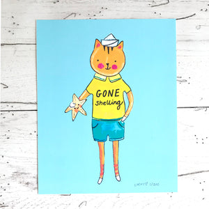 Gone Shelling Limited Edition Art Print by Linzer Lane