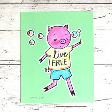 Load image into Gallery viewer, Live Free Limited Edition Art Print by Linzer Lane