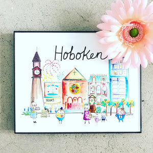 "Hoboken 8""x10"" Wall Art Print by Baby Lucas"