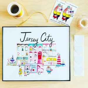 Jersey City Wall Art Print by Baby Lucas