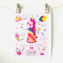 Load image into Gallery viewer, Fairy Ann the Unicorn Art Print