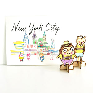 "New York City 8"" x 10"" Wall Art Print by Baby Lucas"