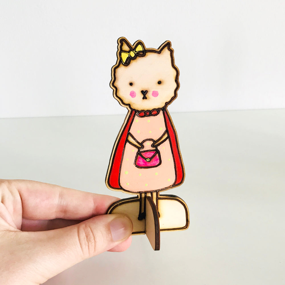 Frau Lina the Dog Wooden Doll by Baby Lucas
