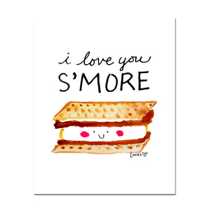 I Love You S'More Art Print by Baby Lucas