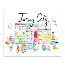 "Load image into Gallery viewer, Jersey City Halloween Edition 8"" x 10"" Art Print by Baby Lucas"
