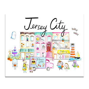 "Jersey City Halloween Edition 8"" x 10"" Art Print by Baby Lucas"