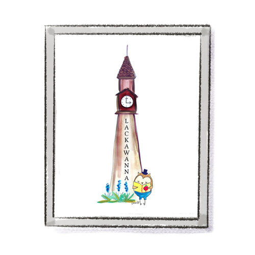 Hoboken Lackawanna Clock Tower Art Print