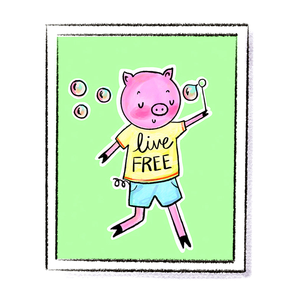 Live Free Limited Edition Art Print by Linzer Lane