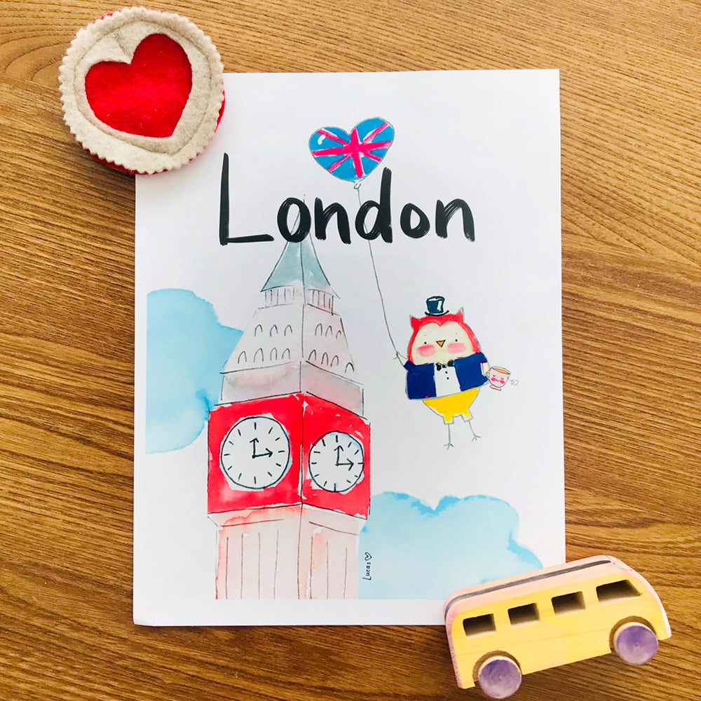 London Art Print by Linzer Lane