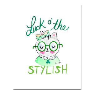 Luck O' The Stylish Wall Art Print