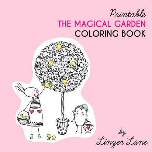*Printable* Magical Garden Coloring Book by Linzer Lane