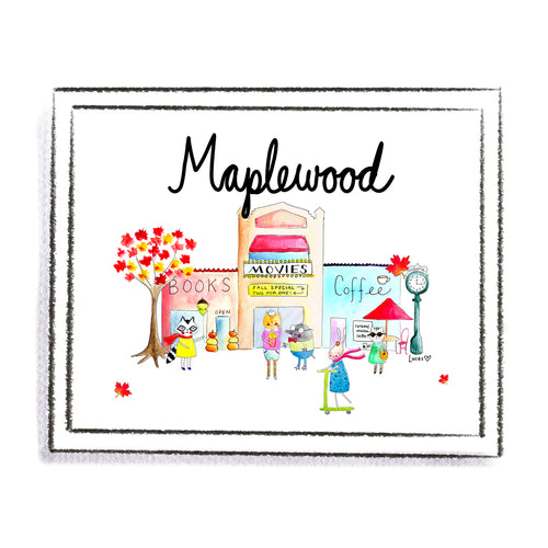 Maplewood, NJ Art Print by Linzer Lane