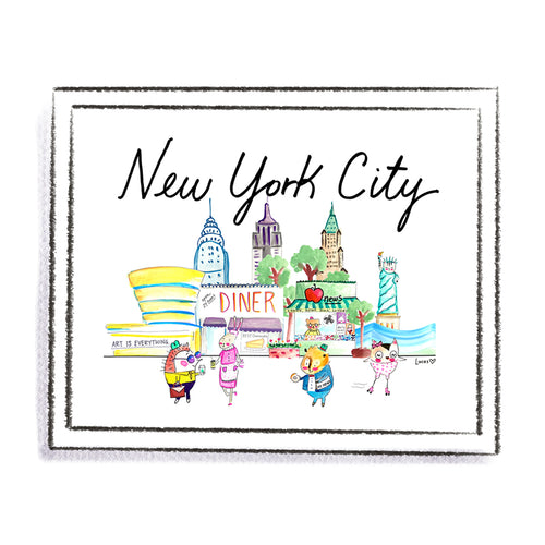 New York City Art Print by Linzer Lane