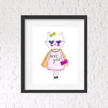 Load image into Gallery viewer, New York City Girl Wall Art Print