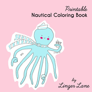 *Printable* Nautical Coloring Book by Linzer Lane
