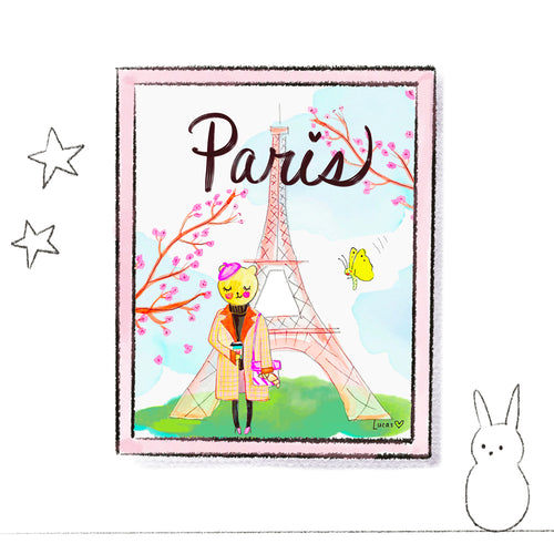 Paris Art Print by Linzer Lane